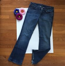 7 For All Mankind Jeans Women's Size 28 Flynt Boot Cut 7 Blue Embroidered Pocket