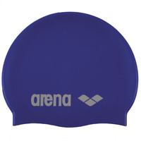 Arena Classic Silicone Swimming Cap Hat Adult Denim/Silver