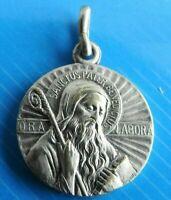 "#1847# Jolie Médaille religieuse,""Sanctus Pater Bénédictus,Ora Labora"" pendentif"