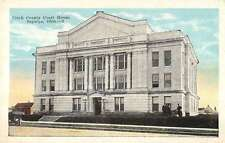 Sapulpa Oklahoma birds eye view Creek Co Court House antique pc Z11641