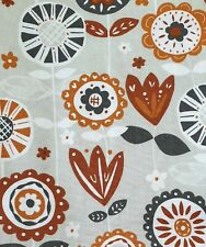 100% Cotton Fabric Freedom Abstract Grey Floral Fabric - Half a Metre 50 x 112cm