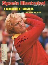 Jack Nicklaus  signed  April 21, 1975 Sports Illustrated - Rare VG+/EX