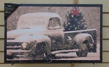 OWX46158 MERRY CHRISTMAS TRUCK Radiance Lighted canvas print LED lights timer