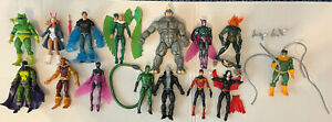 Marvel Legends Spider-Man Villain 15 Figure Lot  Doc Ock, Rhino, Prowler