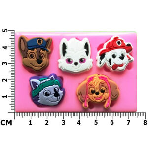 Paw Patrol Faces Chase Skye Marshall Everest Silicone Mould by Fairie Blessings