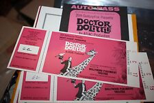 1967 Doctor Dolittle programs, 2 tickets & Autopass Premiere movie showing