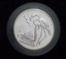 1971 Robert Birds Silver Art Medal, Greater Flamingo # 6, Mounted w/Orig COA