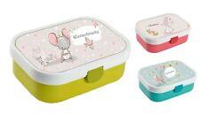 Lunchbox Brotdose Obsteinsatz mit Name Junge viele Motive zur Auswahl Maus
