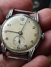 **Vintage Mens Swiss Made 15 jewel Limit Mechanical Watch c1950's,Fancy Lugs**