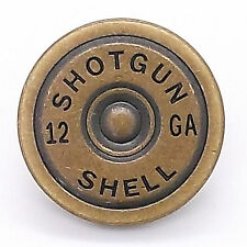 "12 Gauge Shotgun Shell Line 24 Decorative Snap Cap Antique Brass 7/8"" 1265-21"