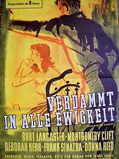 WW II + BURT LANCASTER + FROM HERE TO ETERNITY + FRANK SINATRA + GERMAN 1-SH +