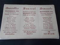Vintage Album of 10 Postcards MANNEKEN PIS Brussels Bruxelles Brussel Belgium