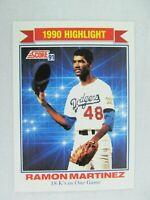 Ramon Martinez Los Angeles Dodgers 1991 Score Baseball Card 419