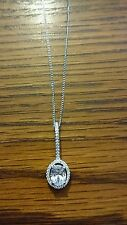 Gorgeous Sterling Silver Diamond effect necklace BNWT