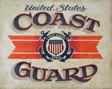 US  Coast Guard Poster decor print vintage style  military art  uscg