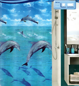 Ökoplast Duschvorhang Dolphin Multicolor 180x200cm Kleine Wolke