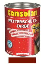 Consolan Wetterschutz-Farbe Schwedenrot 2,5 Liter NEUWARE Art. Nr. 5087468