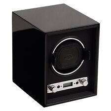 WOLF DESIGNS Meridian Collection Black 2.7 Single Modular Watch Winder Case NEW