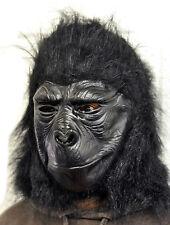Gorilla Completo Cabeza Máscara De Latex Halloween Disfraces Simio Mono Chimpancé King Kong