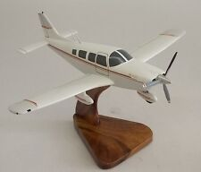 Piper Pa-32R Saratoga Pa-32R-301 Airplane Mahogany Kiln Dry Wood Model Small New