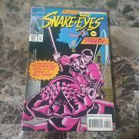 G.I. Joe Marvel Comic #141 VF Snake-Eyes And Transformers 1993