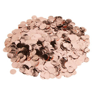 Rose Gold Metalic Foil Sparkling Round Table Confetti Party Decoration