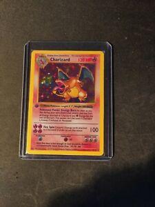 Charizard base set pokemon card 4/102 1st ed ENG shadowless proxy