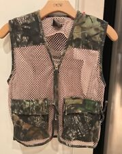 VINTAGE Game Winner Camo Hunting Vest Full Zip One Size