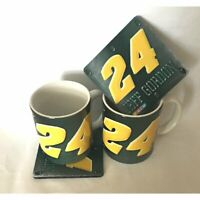 NASCAR JEFF GORDON #24 Coffee Mug CERAMIC and matching COASTER. BRAND NEW