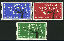 Cyprus 219-221, MI 215-217, MLH. EUROPA CEPT. Young Tree with 19 Leaves, 1963