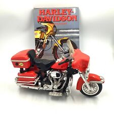 Harley Davidson Plastic Motorcycle 14 x 9 with Sound and The Living Legend Book