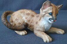 Vintage Lenox Smithsonian Florida Panther Cub Porcelain Cat Cougar Figurine 1991