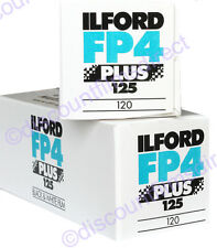 2 x ILFORD FP4 125 CHEAP 120 ROLL BLACK & WHITE FILM by 1st CLASS POST