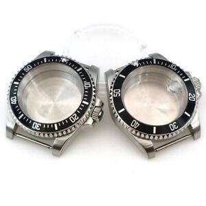 120 Clicks Bezel 40mm Watch Case Sapphire Glass Fit NH35 NH35A NH36A Movement