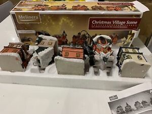 Melinera Light Up Christmas Village Scene High Quality Hand Painted