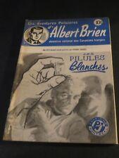 1940s ADVENTURES POLICIER ALBERT BRIEN DETECTIVE SEX MURDER FRENCH  PULP #527
