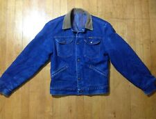 Vintage WRANGLER Fleece Lined Corduroy Collar Denim Western Trucker Jean Jacket