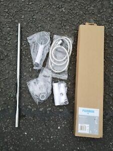 White Shower  kit , White, 1.5m Hose Length, Shower Kit With Rail
