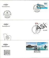 58171 - ISLAND Iceland - POSTAL HISTORY: 2016 set of 9  FDC COVERS - BUTTERFLIES