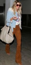 $698 LAUREN RALPH LAUREN Brown Suede Leather Pants Trousers Size US 2 UK 6 XS