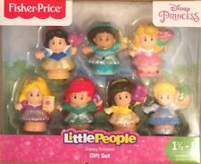 NIB Fisher Price Little People Disney Princess 7 Figure Pack Ariel, Aurora Belle