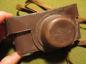 vintage leather LEICA Camera Case with strap