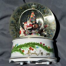 P Buckley Moss 2008 Limited edition Lg lighted Snow Globe Signed, number & Box