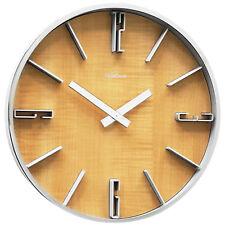Atlanta 50 Reloj De Pared cuarzo oficina la Sala Trabajo cocina Aspecto Madera