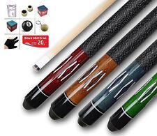 Farben 4 x Billard Queues in div Länge ca 2-tlg + BILLARD-SET Gratis 145 cm