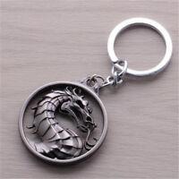 DZ1068 Game Mortal Kombat Metal key ring metal keyrings keychain ~silver♫