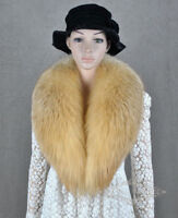 "100cm/39""inch Men&Women Real Red Fox Fur Collar Scarf Shawl Wrap Cape US stock"