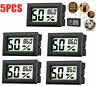 5PCS Mini Hygrometer Thermometer Humidity Temperature Digital  LCD Display Meter