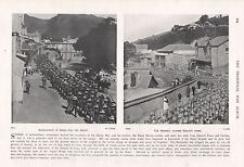 1900 ANTIQUE PRINT-BOER WAR-BLUEJACKETS, MARINES IN DURBAN AND SIMON'S TOWN