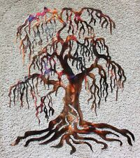 "Weeping Willow Metal Wall Art Tree 24"" Tall"